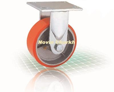 چرخ 100 ثابت پلی یورتان / PU